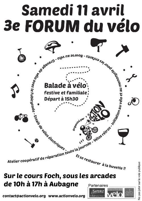 Collectif Vélos en Ville Action Vélo Aubagne 3è forum vélo