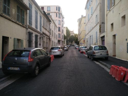 rue curie, Marseille, piste cyclable, double sens cyclable